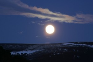 Full moon over Haughs